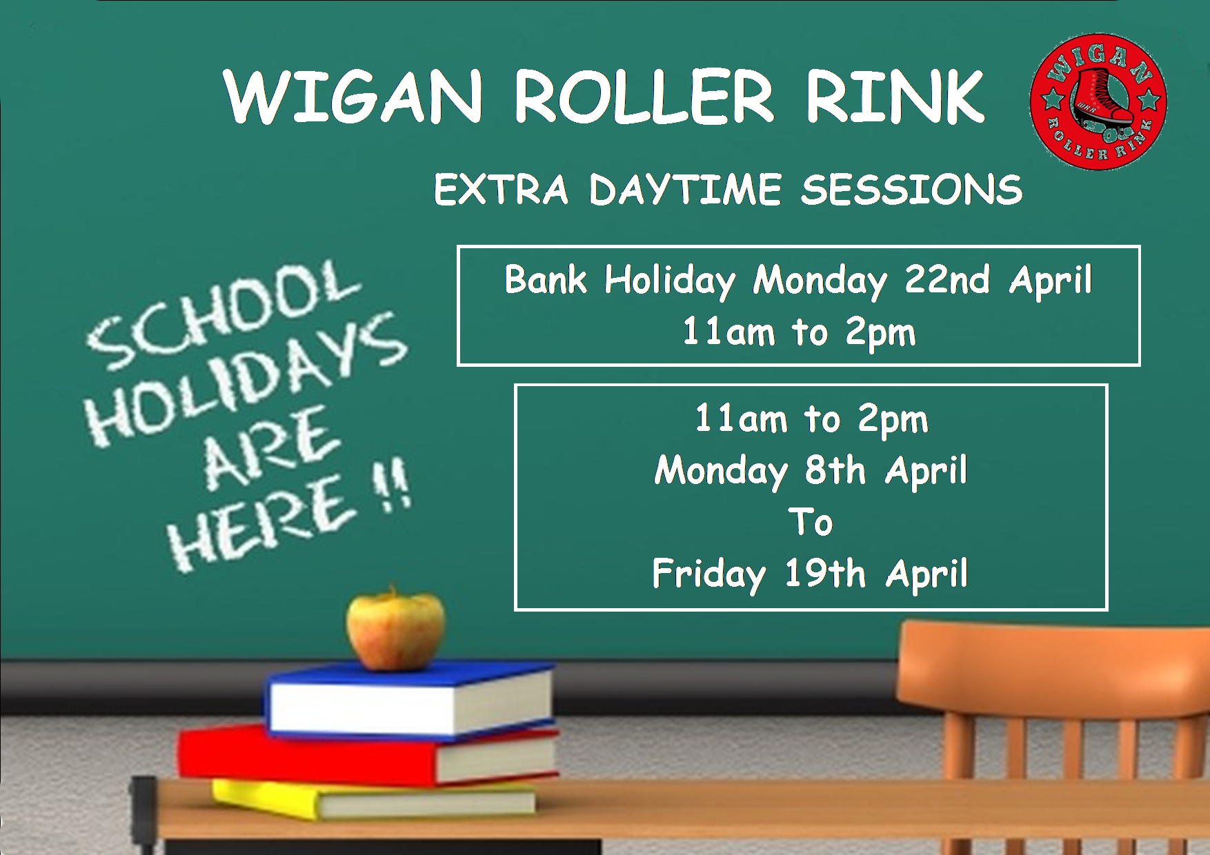 Easter Holiday Family Skating Mon 8th - Mon 22nd April 11am - 2pm