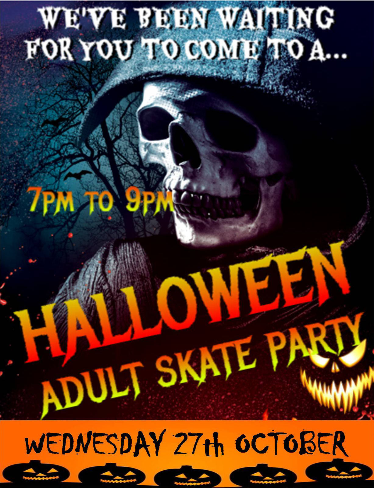 HALLOWEEN OVER 18'S ONLY WEDS 27TH OCT 7-9PM