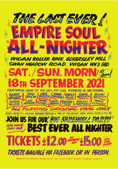 NORTHERN SOUL DANCE EVENT SAT 18TH 10PM - SUN 19TH SEPT 6AM
