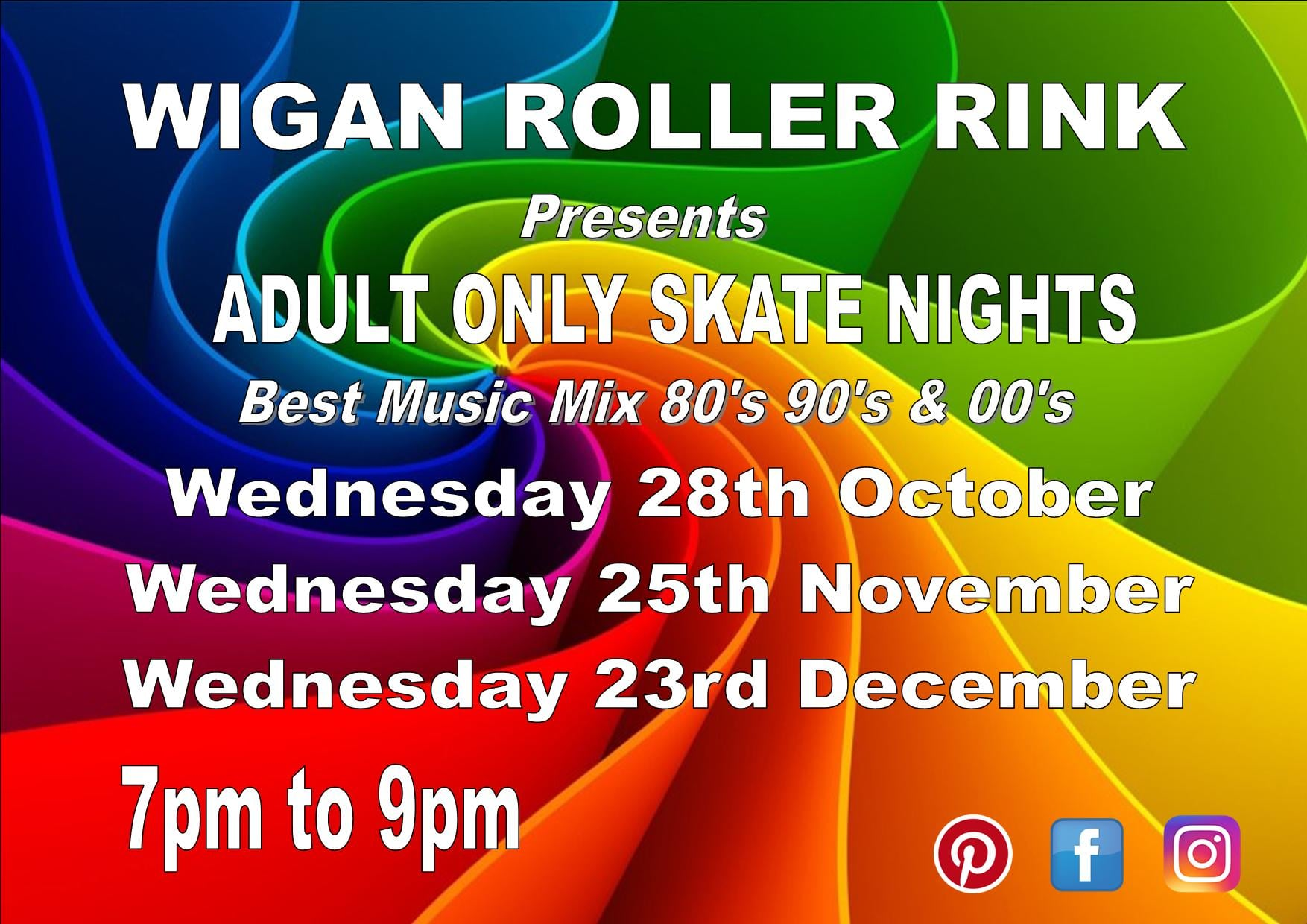 OVER 18'S ONLY WEDS 28TH OCTOBER  7PM - 9PM