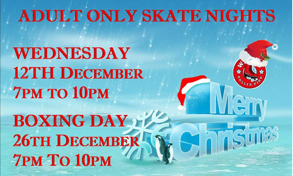 Over 18s only Weds 12th & 26th December 7pm - 10pm