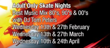 Over 18s only Weds 10th & 24th April 7pm - 10pm