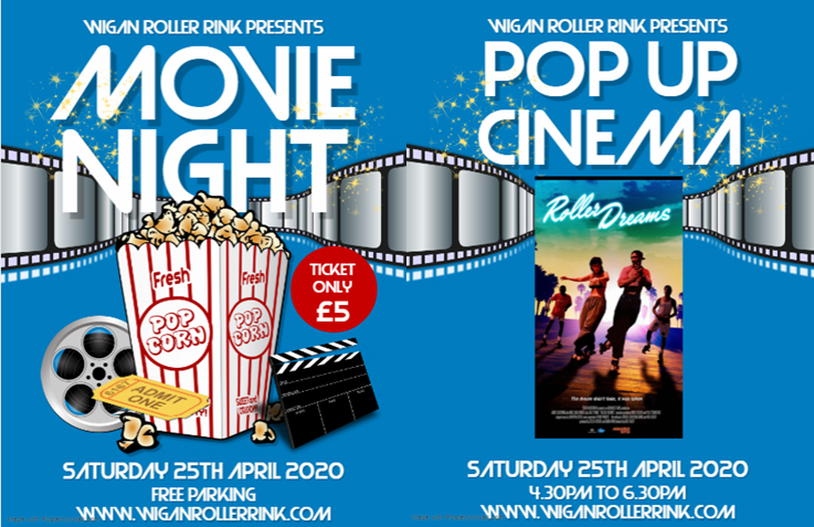Pop up Cinema Sat 25th April 4.30-6.30 £5 per person