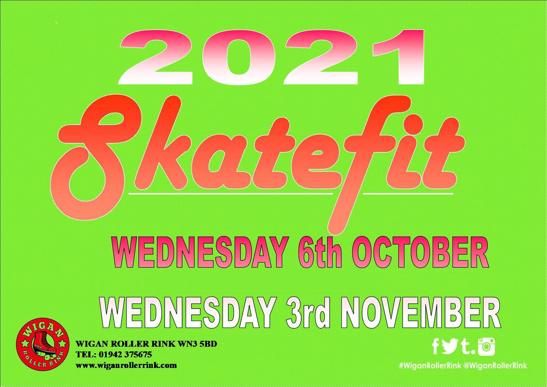 SKATEFIT - 1ST WEDS OF THE MONTH  7pm - 9pm