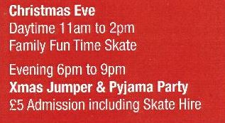 Christmas Eve Family Skating 11am - 2pm & 6pm - 9pm